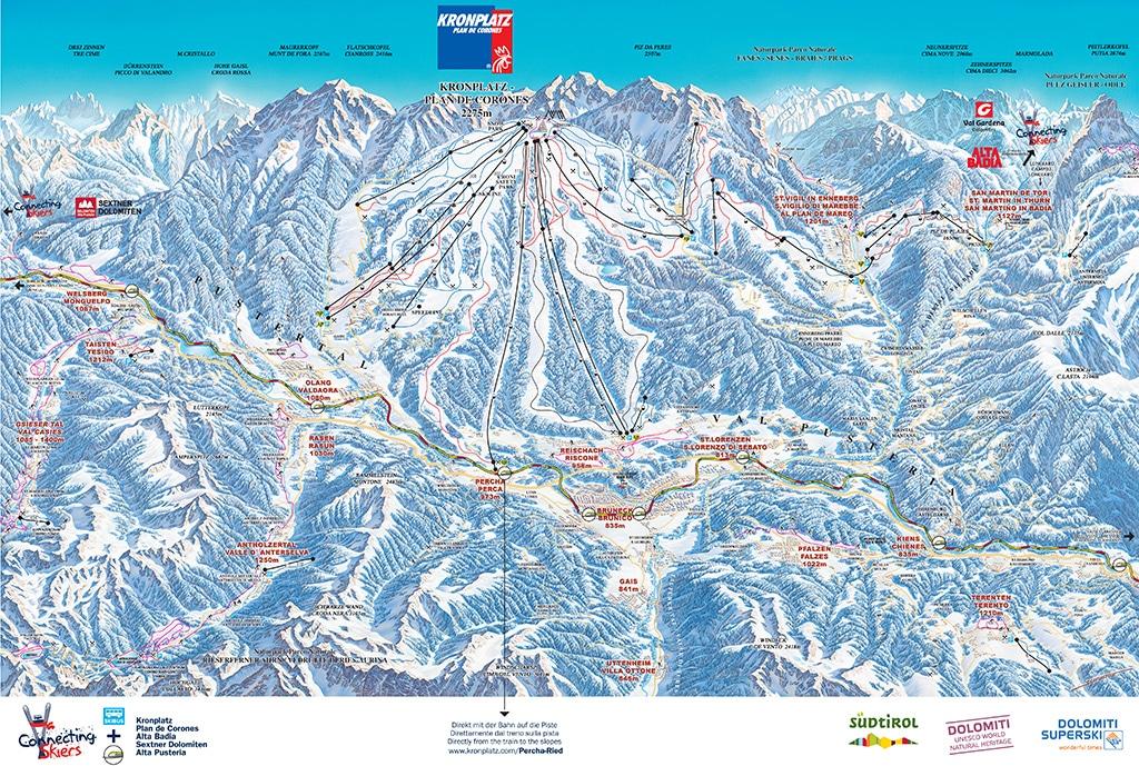 Skigebiet Kronplatz Pistenplan