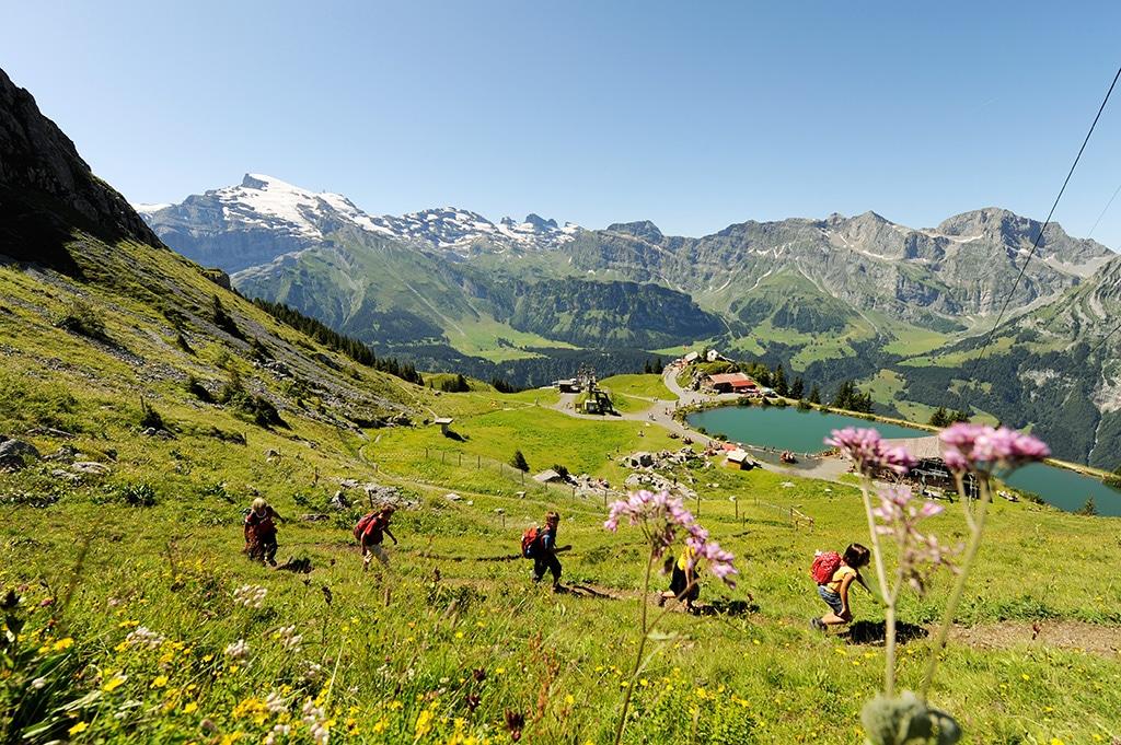 Familiengerechte Wanderwege und steile, schmale Pfade wechseln sich ab Bildnachweis:  Engelberg-Titlis, Christian Perret