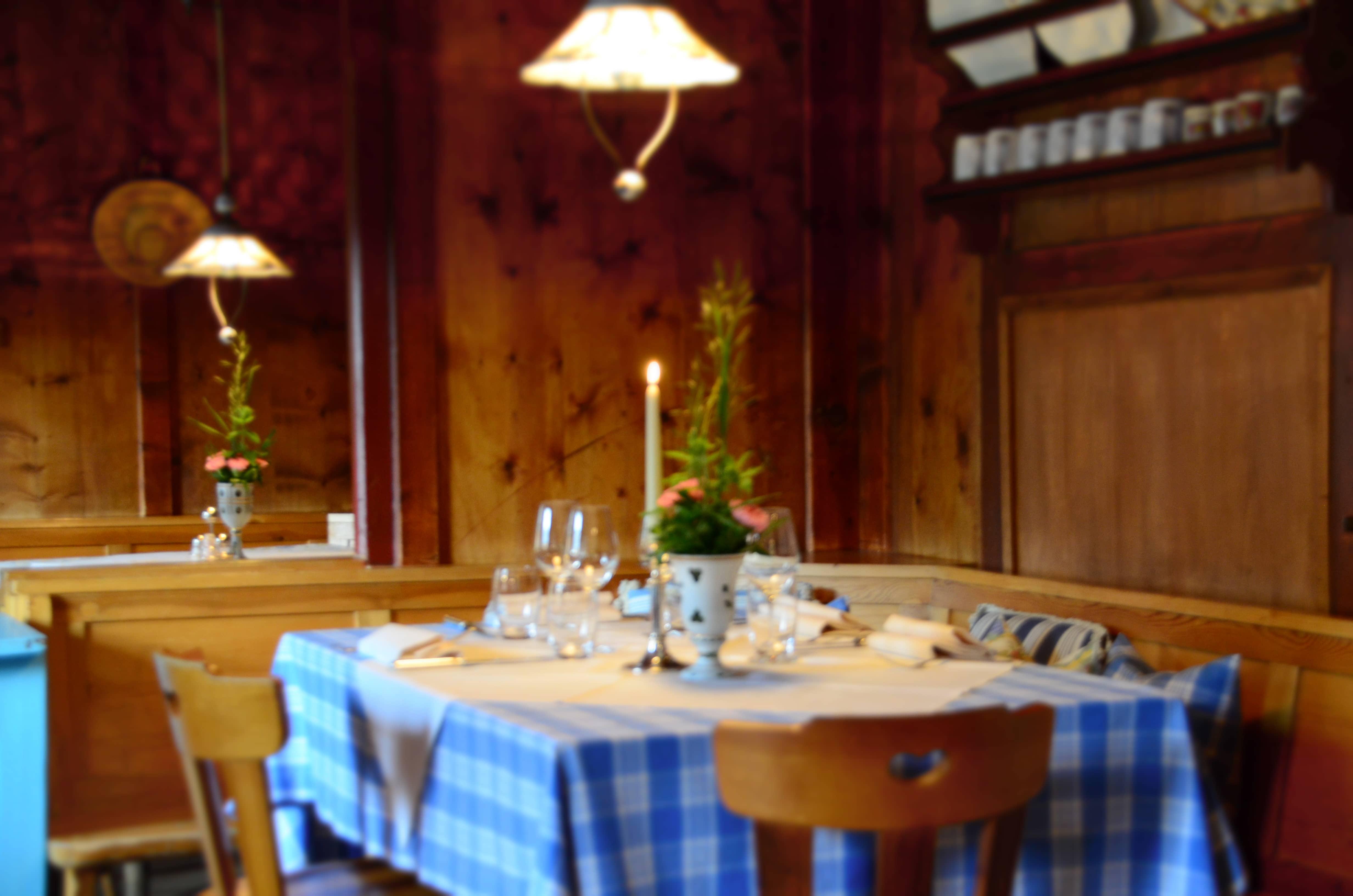 Das Restaurant im Berghotel Ladinia