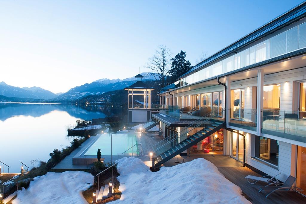 Vom Schnee ins Wasser des 1. Kärnten Badehaus