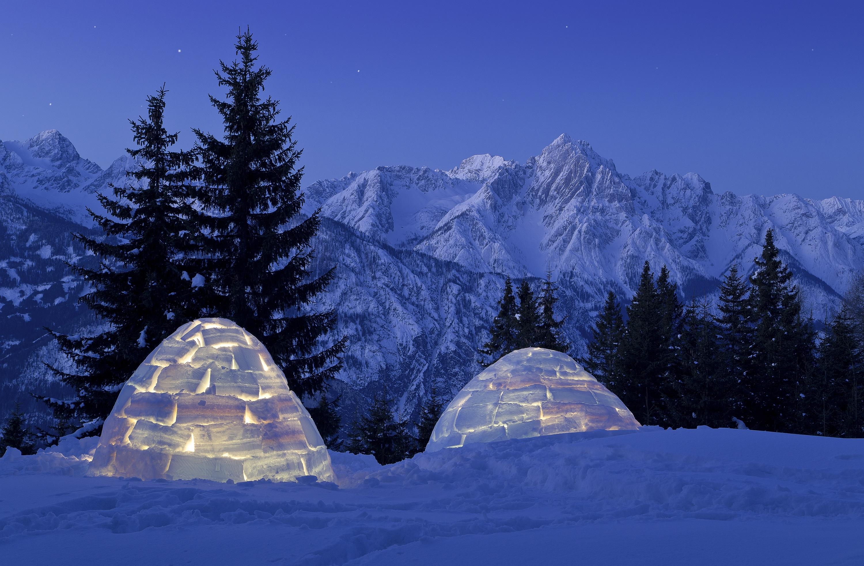 Im Iglu übernachten in Osttirol
