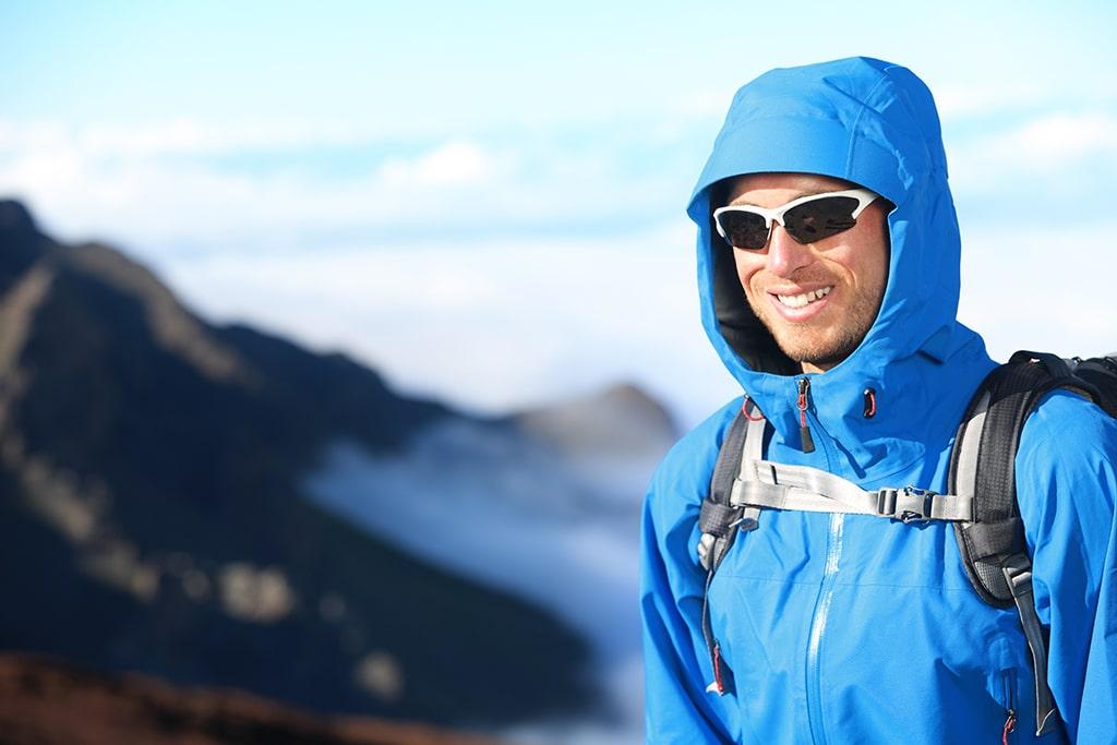 Sportbrillen beim Bergsteigen