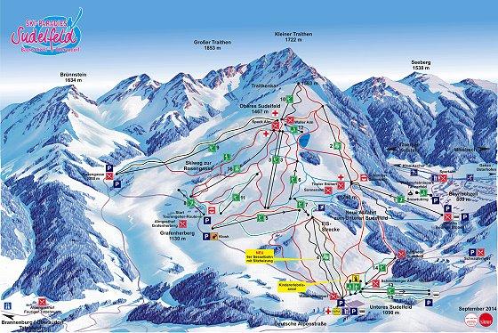 Skigebiet Sudelfeld Pistenplan