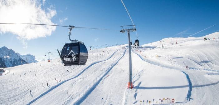 Wintersport in der Skiregion Kronplatz in Südtirol