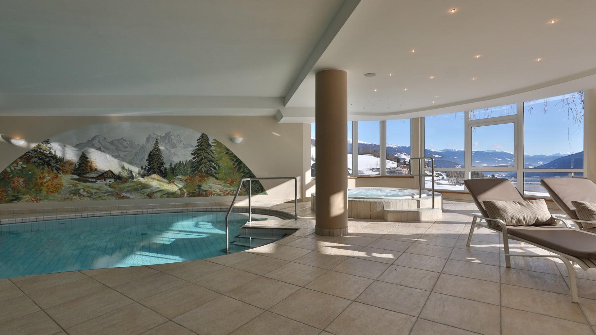 Sauna im Hotel der Berge in Südtirol