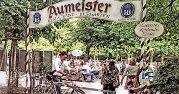 Aumeister Biergarten in Münchens Norden