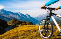 Mountainbike in den Alpen