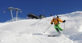 Freeriden im Skigebiet Kühtai