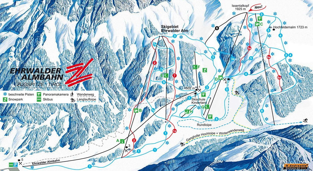 Skigebiet Ehrwald
