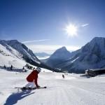 Das Skigebiet Ehrwald / Ehrwalder Almbahn an der Zugspitze