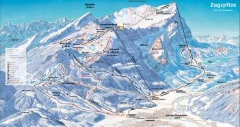 Pistenplan Skigebiet Zugspitze