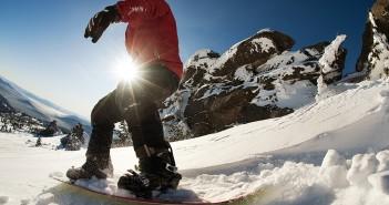 Skifahren im Frühling