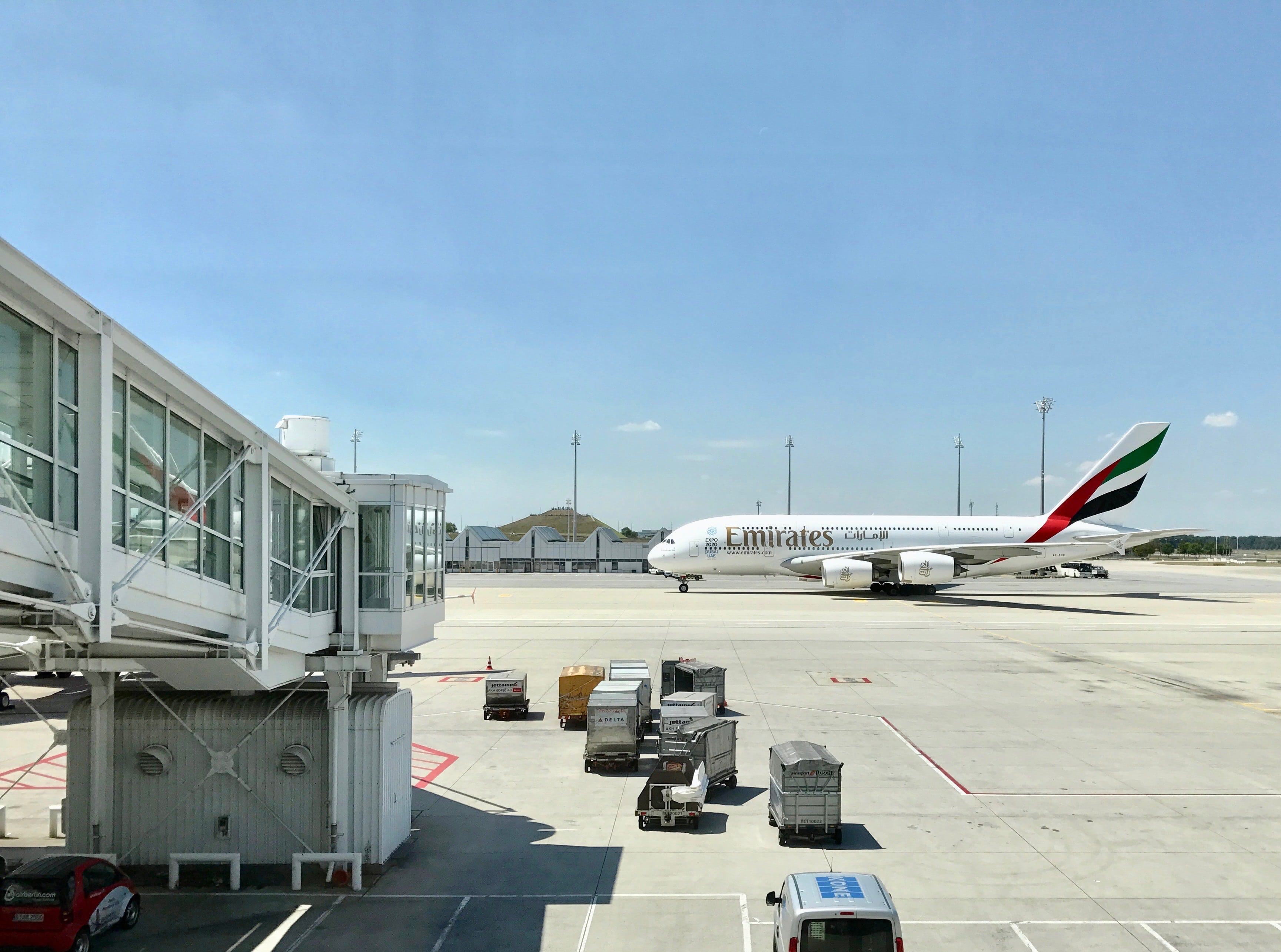 Gepäckstücke und Flüge